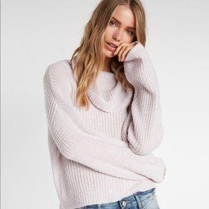 Metallic Cowl neck sweater